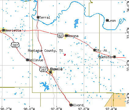 Montague County, TX map