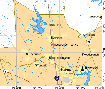Montgomery County, TX map