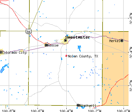 Nolan County, TX map