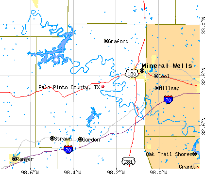 Palo Pinto County, TX map