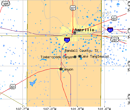 Randall County, TX map
