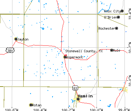 Stonewall County, TX map