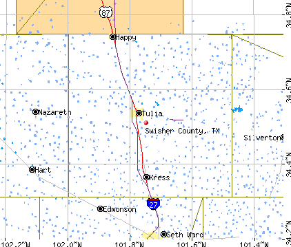 Swisher County, TX map