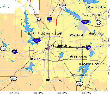 Tarrant County, TX map