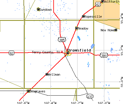 Terry County, TX map