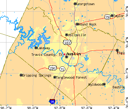 Travis County, TX map
