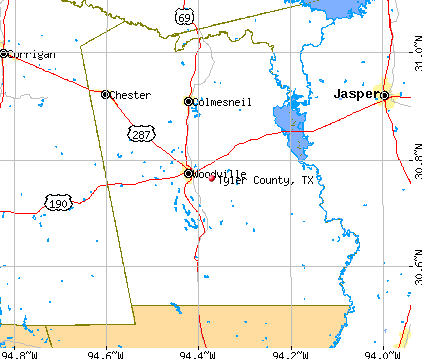 Tyler County, TX map