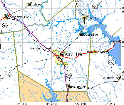 Walker County, TX map