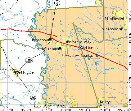 Waller County, TX map