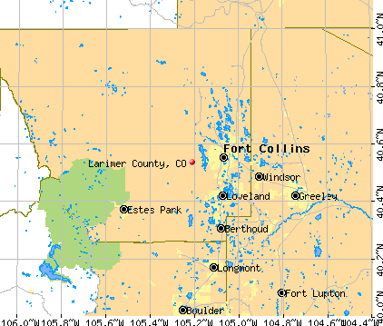 Larimer County, CO map