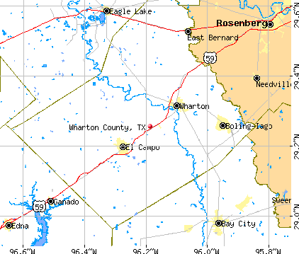 Wharton County, TX map