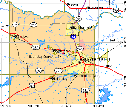 Wichita County, TX map