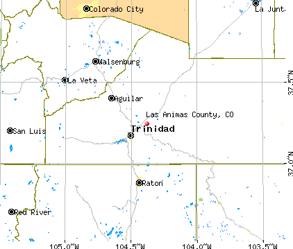 Las Animas County, CO map