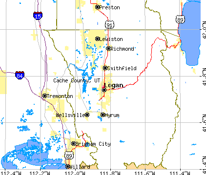 Cache County, UT map