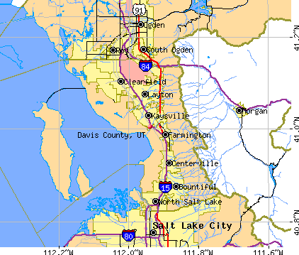 Davis County, UT map
