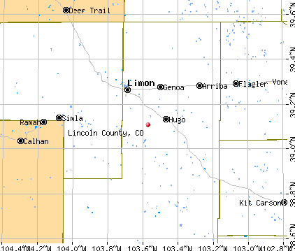 Lincoln County, CO map