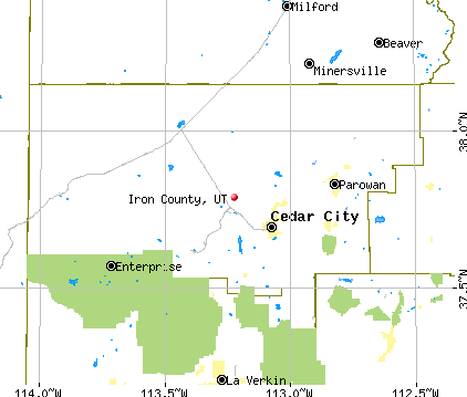 Iron County, UT map