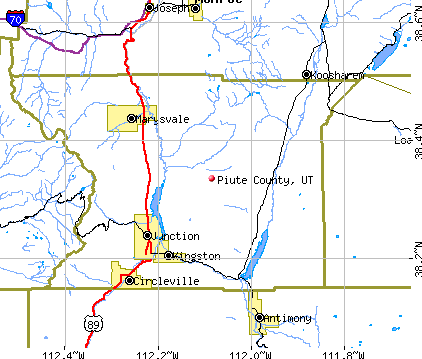 Piute County, UT map