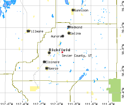Sevier County, UT map