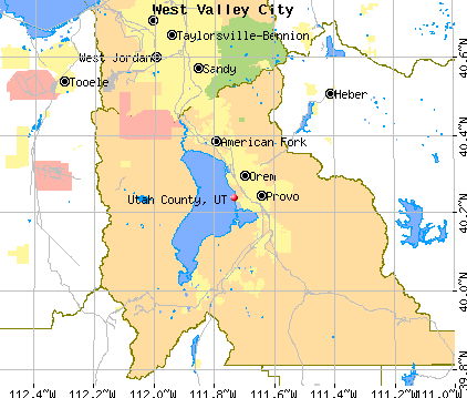 Utah County, UT map