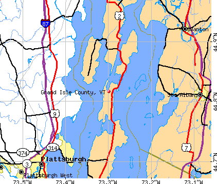Grand Isle County, VT map