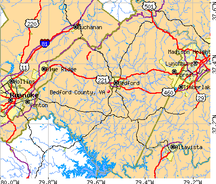 Bedford County, VA map