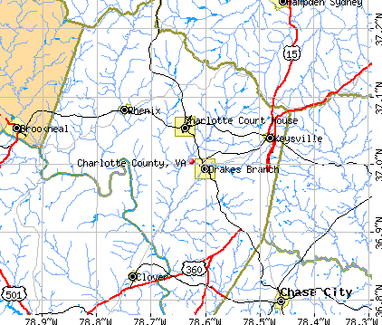 Charlotte County, VA map
