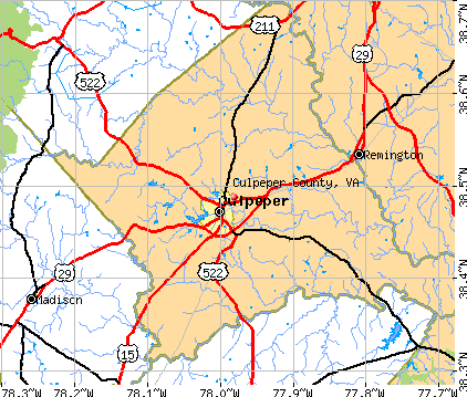 Culpeper County, VA map
