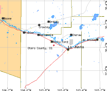 Otero County, CO map