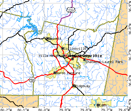 Henry County, VA map