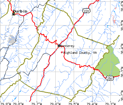 Highland County, VA map
