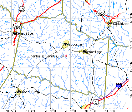 Lunenburg County, VA map