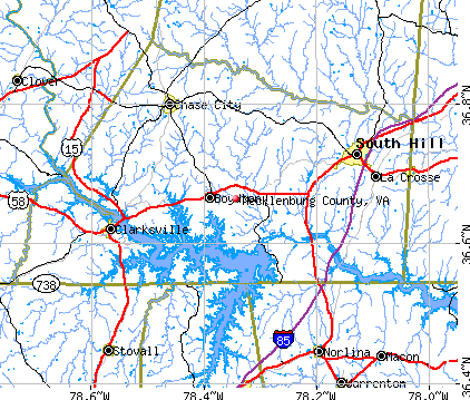 Mecklenburg County, VA map