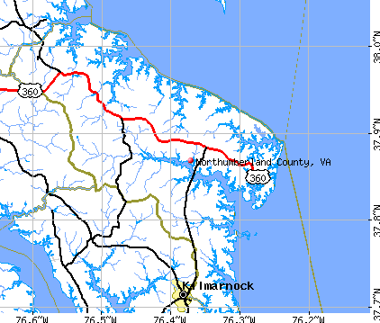 Northumberland County, VA map