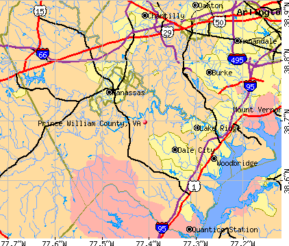 Prince William County, VA map