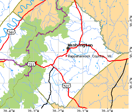 Rappahannock County, VA map