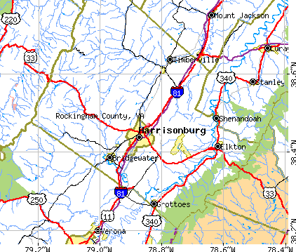Rockingham County, VA map