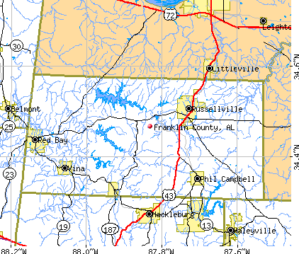 Franklin County, AL map