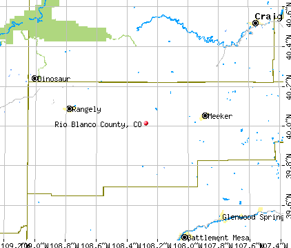 Rio Blanco County, CO map