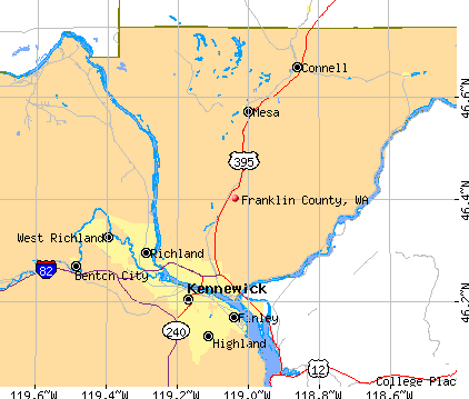 Franklin County, WA map