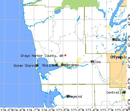 Grays Harbor County, WA map