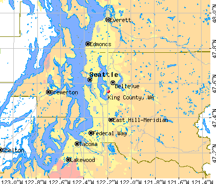 King County, WA map