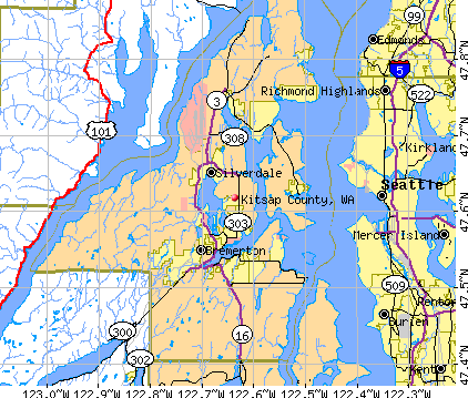 Kitsap County, WA map
