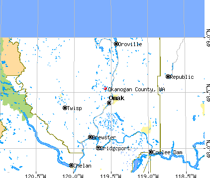 Okanogan County, WA map