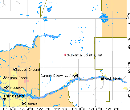 Skamania County, WA map