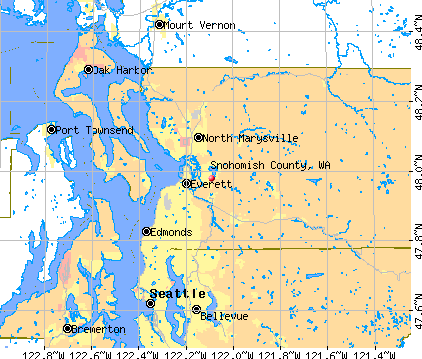 Snohomish County, WA map