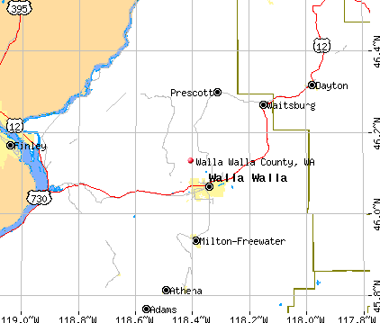 Walla Walla County, WA map