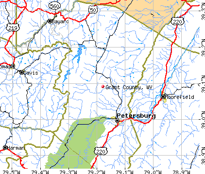 Grant County, WV map