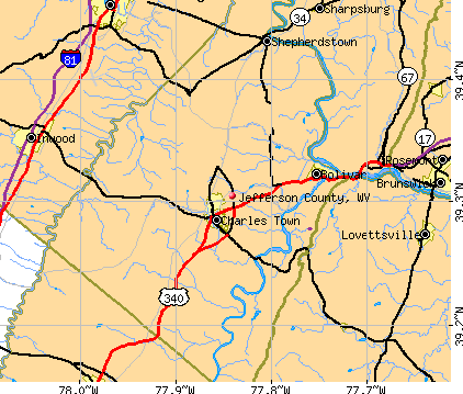 Jefferson County, WV map