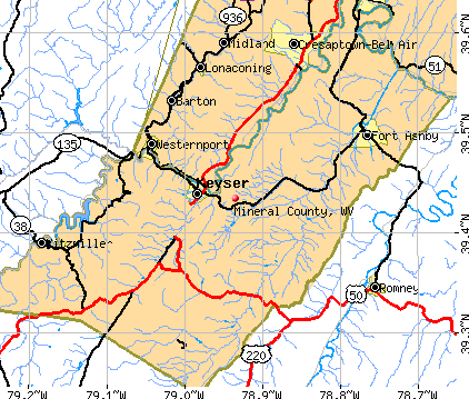 Mineral County, WV map